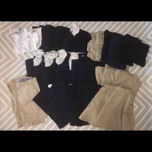 Girls school uniform 29 piece lot size 10/12